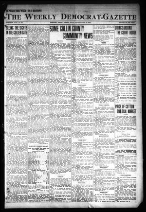 Primary view of object titled 'The Weekly Democrat-Gazette (McKinney, Tex.), Vol. 30, No. 36, Ed. 1 Thursday, October 10, 1912'.