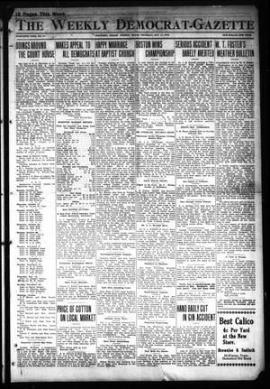 Primary view of object titled 'The Weekly Democrat-Gazette (McKinney, Tex.), Vol. 30, No. 37, Ed. 1 Thursday, October 17, 1912'.