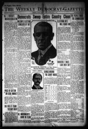 Primary view of object titled 'The Weekly Democrat-Gazette (McKinney, Tex.), Vol. 30, No. 40, Ed. 1 Thursday, November 7, 1912'.