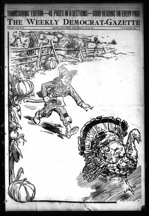 Primary view of object titled 'The Weekly Democrat-Gazette (McKinney, Tex.), Vol. 30, No. 43, Ed. 1 Thursday, November 28, 1912'.