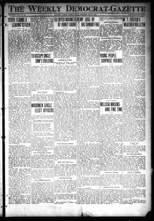 Primary view of object titled 'The Weekly Democrat-Gazette (McKinney, Tex.), Vol. 30, No. 48, Ed. 1 Thursday, January 2, 1913'.
