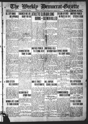 Primary view of object titled 'The Weekly Democrat-Gazette (McKinney, Tex.), Vol. 31, No. 6, Ed. 1 Thursday, March 12, 1914'.