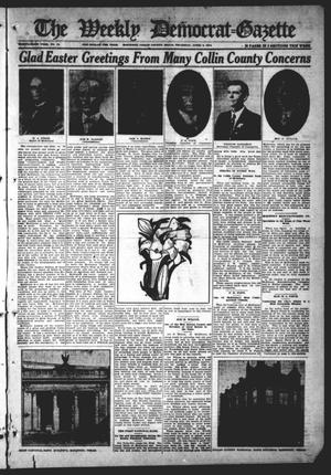 Primary view of object titled 'The Weekly Democrat-Gazette (McKinney, Tex.), Vol. 31, No. 10, Ed. 1 Thursday, April 9, 1914'.