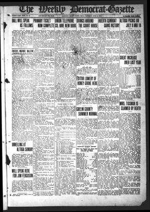 Primary view of object titled 'The Weekly Democrat-Gazette (McKinney, Tex.), Vol. 31, No. 20, Ed. 1 Thursday, June 18, 1914'.