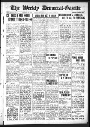 Primary view of object titled 'The Weekly Democrat-Gazette (McKinney, Tex.), Vol. 31, No. 24, Ed. 1 Thursday, July 16, 1914'.