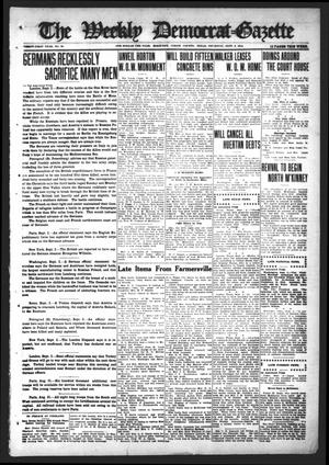 Primary view of object titled 'The Weekly Democrat-Gazette (McKinney, Tex.), Vol. 31, No. 30, Ed. 1 Thursday, September 3, 1914'.