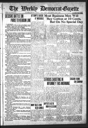 Primary view of object titled 'The Weekly Democrat-Gazette (McKinney, Tex.), Vol. 31, No. 31, Ed. 1 Thursday, September 10, 1914'.