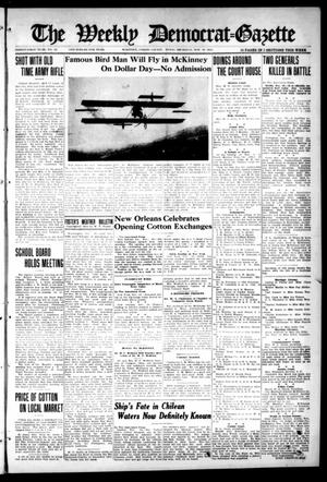 Primary view of object titled 'The Weekly Democrat-Gazette (McKinney, Tex.), Vol. 31, No. 41, Ed. 1 Thursday, November 19, 1914'.