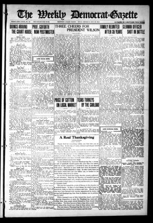 Primary view of object titled 'The Weekly Democrat-Gazette (McKinney, Tex.), Vol. 31, No. 42, Ed. 1 Thursday, November 26, 1914'.
