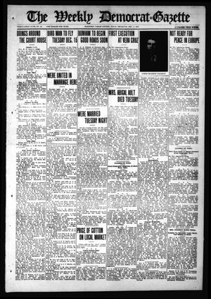 Primary view of object titled 'The Weekly Democrat-Gazette (McKinney, Tex.), Vol. 31, No. 43, Ed. 1 Thursday, December 3, 1914'.