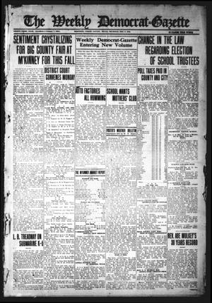 The Weekly Democrat-Gazette (McKinney, Tex.), Vol. 33, Ed. 1 Thursday, February 3, 1916