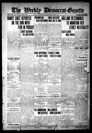 Primary view of object titled 'The Weekly Democrat-Gazette (McKinney, Tex.), Vol. 33, Ed. 1 Thursday, April 6, 1916'.