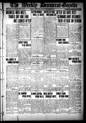 Primary view of object titled 'The Weekly Democrat-Gazette (McKinney, Tex.), Vol. 33, Ed. 1 Thursday, April 20, 1916'.