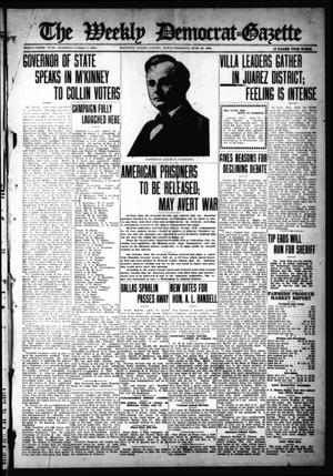 Primary view of object titled 'The Weekly Democrat-Gazette (McKinney, Tex.), Vol. 33, Ed. 1 Thursday, June 29, 1916'.