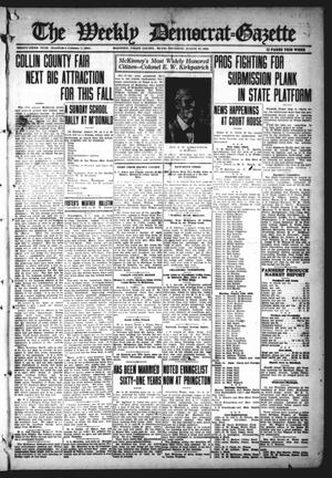 Primary view of object titled 'The Weekly Democrat-Gazette (McKinney, Tex.), Vol. 33, Ed. 1 Thursday, August 10, 1916'.