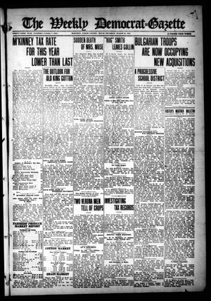 Primary view of object titled 'The Weekly Democrat-Gazette (McKinney, Tex.), Vol. 33, Ed. 1 Thursday, August 24, 1916'.