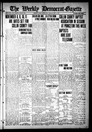 Primary view of object titled 'The Weekly Democrat-Gazette (McKinney, Tex.), Vol. 33, Ed. 1 Thursday, September 14, 1916'.