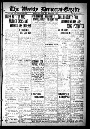 Primary view of object titled 'The Weekly Democrat-Gazette (McKinney, Tex.), Vol. 33, Ed. 1 Thursday, September 28, 1916'.