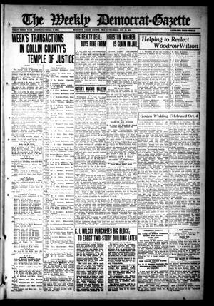 Primary view of object titled 'The Weekly Democrat-Gazette (McKinney, Tex.), Vol. 33, Ed. 1 Thursday, October 12, 1916'.