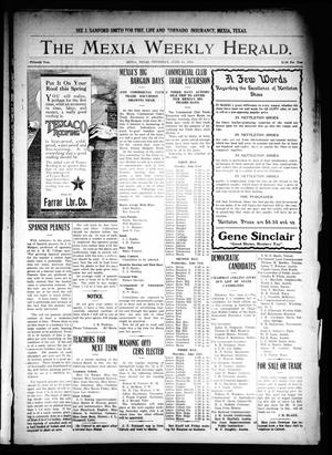 Primary view of object titled 'The Mexia Weekly Herald. (Mexia, Tex.), Vol. 15, Ed. 1 Thursday, June 11, 1914'.