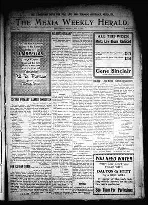 Primary view of object titled 'The Mexia Weekly Herald. (Mexia, Tex.), Vol. 15, Ed. 1 Thursday, August 13, 1914'.