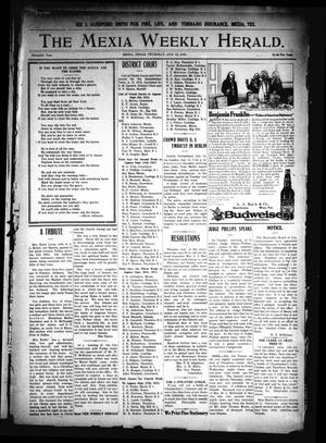 Primary view of object titled 'The Mexia Weekly Herald. (Mexia, Tex.), Vol. 16, Ed. 1 Thursday, August 12, 1915'.
