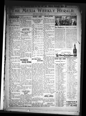 Primary view of object titled 'The Mexia Weekly Herald. (Mexia, Tex.), Vol. 16, Ed. 1 Thursday, September 9, 1915'.