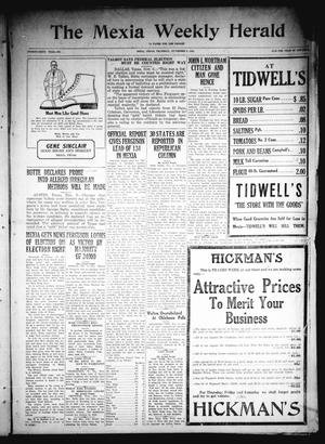 Primary view of object titled 'The Mexia Weekly Herald (Mexia, Tex.), Vol. 26, Ed. 1 Thursday, November 6, 1924'.