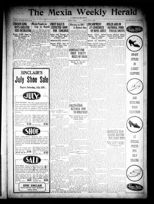 Primary view of object titled 'The Mexia Weekly Herald (Mexia, Tex.), Vol. 27, No. 26, Ed. 1 Friday, July 10, 1925'.