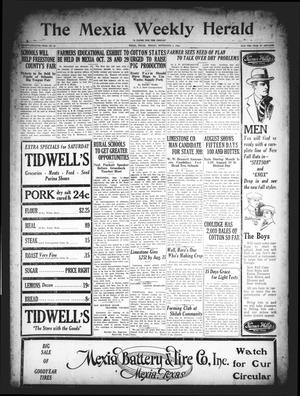 Primary view of object titled 'The Mexia Weekly Herald (Mexia, Tex.), Vol. 27, No. 34, Ed. 1 Friday, September 4, 1925'.