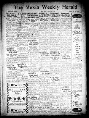 Primary view of object titled 'The Mexia Weekly Herald (Mexia, Tex.), Vol. 28, No. 14, Ed. 1 Friday, April 9, 1926'.