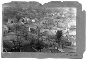 Primary view of object titled '[Aerial View of Lacy Street - Palestine]'.