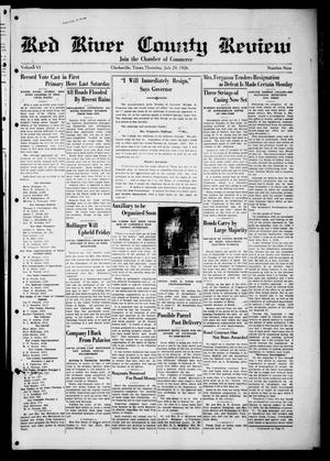 Primary view of object titled 'Red River County Review (Clarksville, Tex.), Vol. 6, No. 9, Ed. 1 Thursday, July 29, 1926'.