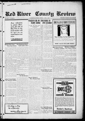 Primary view of object titled 'Red River County Review (Clarksville, Tex.), Vol. 5, No. 4, Ed. 1 Tuesday, June 9, 1925'.