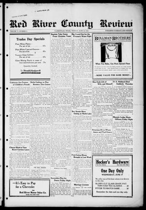 Primary view of object titled 'Red River County Review (Clarksville, Tex.), Vol. 5, No. 6, Ed. 1 Tuesday, June 16, 1925'.