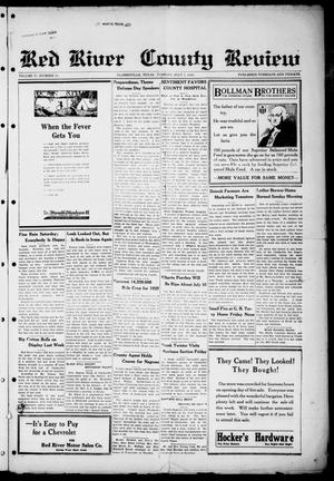 Primary view of object titled 'Red River County Review (Clarksville, Tex.), Vol. 5, No. 12, Ed. 1 Tuesday, July 7, 1925'.