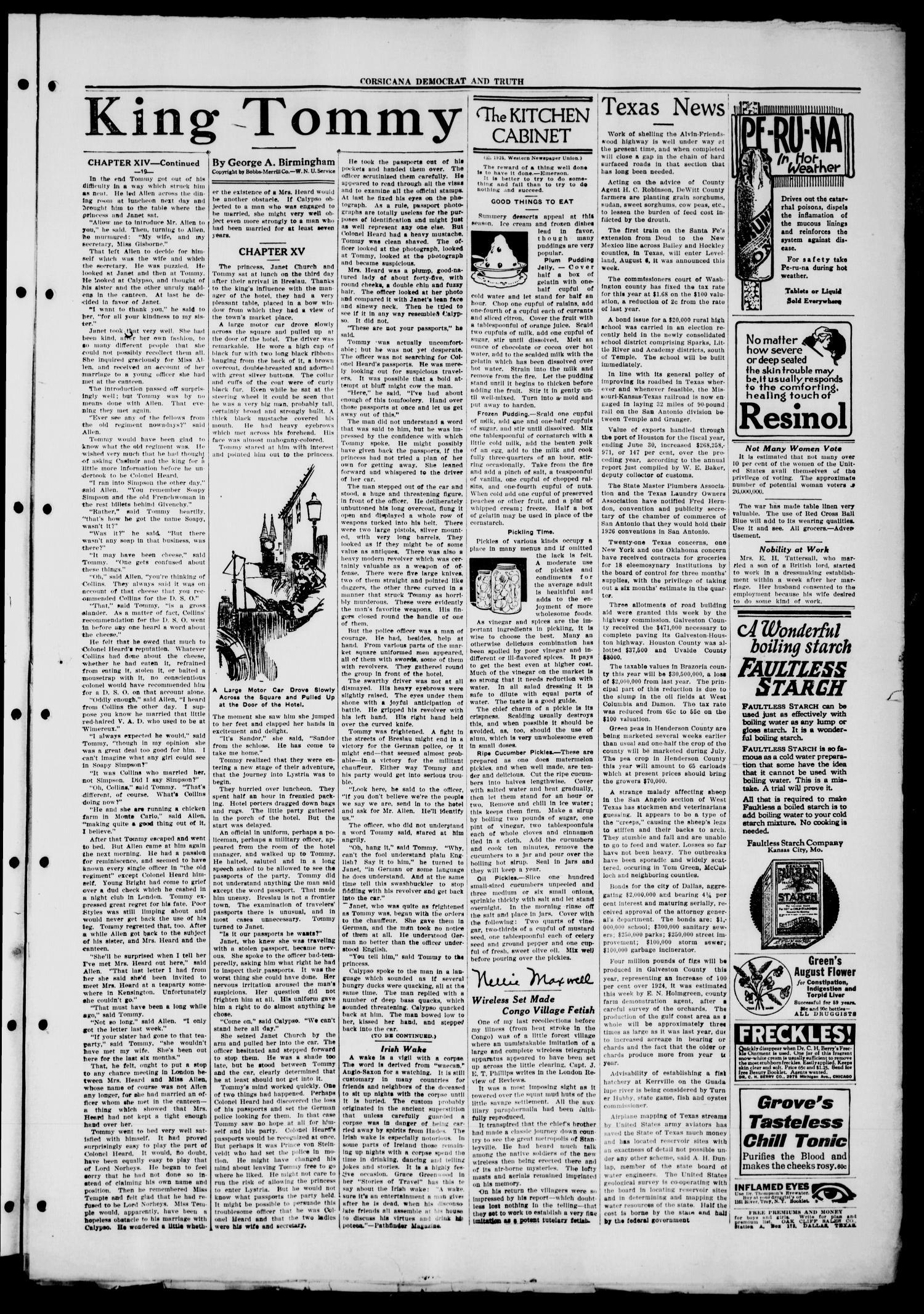 Corsicana Democrat and Truth (Corsicana, Tex.), Vol. 39, No. 31, Ed. 1 Thursday, July 23, 1925                                                                                                      [Sequence #]: 3 of 8