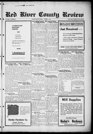 Primary view of object titled 'Red River County Review (Clarksville, Tex.), Vol. 5, No. 22, Ed. 1 Tuesday, August 11, 1925'.
