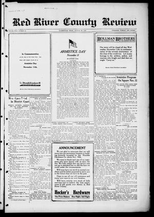 Primary view of object titled 'Red River County Review (Clarksville, Tex.), Vol. 5, No. 48, Ed. 1 Tuesday, November 10, 1925'.