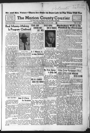 Primary view of object titled 'The Marion County Courier (Jefferson, Tex.), Vol. 3, No. 39, Ed. 1 Friday, January 19, 1940'.