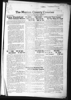 Primary view of object titled 'The Marion County Courier (Jefferson, Tex.), Vol. 4, No. 15, Ed. 1 Friday, August 2, 1940'.
