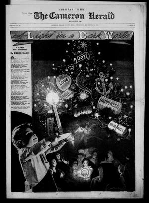 Primary view of object titled 'The Cameron Herald. (Cameron, Tex.), Vol. 81, No. 36, Ed. 1 Thursday, December 18, 1941'.