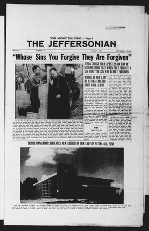 Primary view of object titled 'The Jeffersonian (Jefferson, Tex.), Vol. 3, No. 12, Ed. 1 Wednesday, August 1, 1951'.