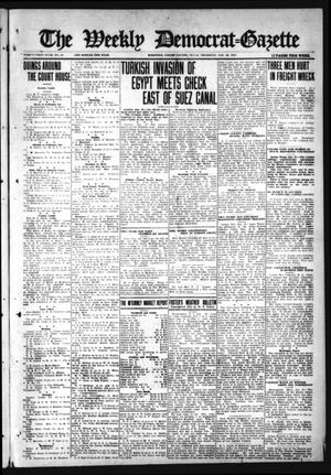 Primary view of object titled 'The Weekly Democrat-Gazette (McKinney, Tex.), Vol. 31, No. 51, Ed. 1 Thursday, January 28, 1915'.