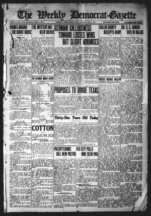 Primary view of object titled 'The Weekly Democrat-Gazette (McKinney, Tex.), Vol. 32, Ed. 1 Thursday, February 4, 1915'.
