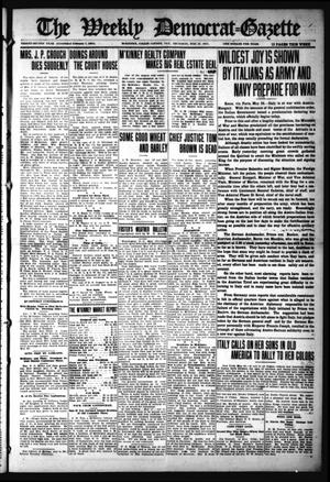 Primary view of object titled 'The Weekly Democrat-Gazette (McKinney, Tex.), Vol. 32, Ed. 1 Thursday, May 27, 1915'.