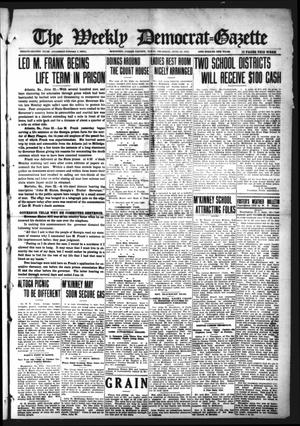 Primary view of object titled 'The Weekly Democrat-Gazette (McKinney, Tex.), Vol. 32, Ed. 1 Thursday, June 24, 1915'.