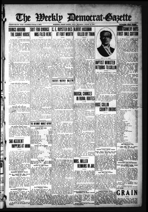 Primary view of object titled 'The Weekly Democrat-Gazette (McKinney, Tex.), Vol. 32, Ed. 1 Thursday, August 12, 1915'.