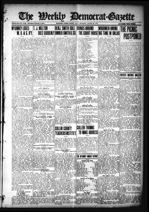Primary view of object titled 'The Weekly Democrat-Gazette (McKinney, Tex.), Vol. 32, Ed. 1 Thursday, August 26, 1915'.