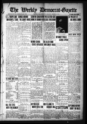 Primary view of object titled 'The Weekly Democrat-Gazette (McKinney, Tex.), Vol. 32, Ed. 1 Thursday, September 16, 1915'.